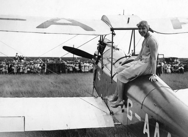 Amy Johnson in Australia, 1930. She was one of the first women pilots to make headline news and held many records
