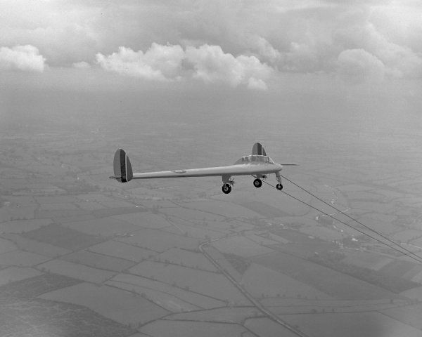 Armstrong Whitworth AW.52/G (RG324) in flight, 1946