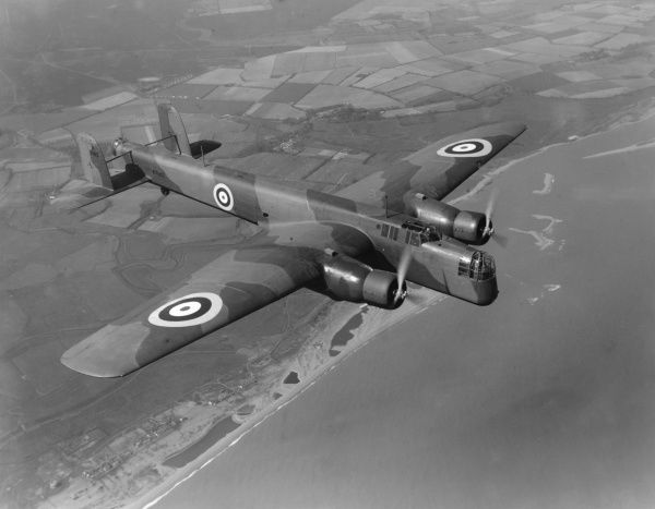 Armstrong Whitworth Whitley in flight, 1937