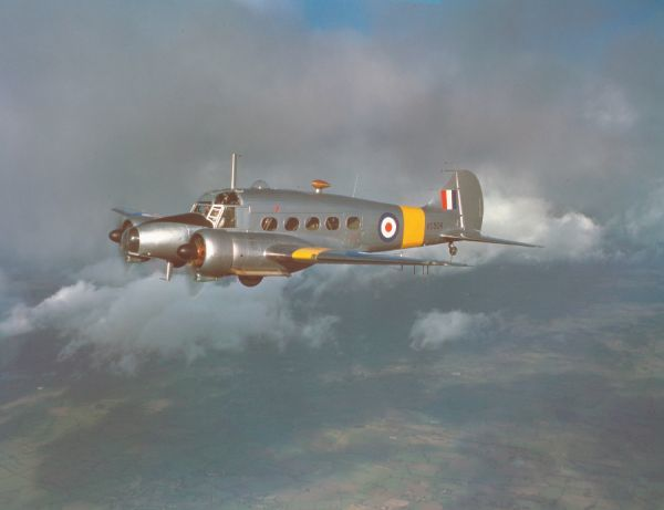 Avro Anson T.20 (VS504) in flight near Woodford, 9 February 1948