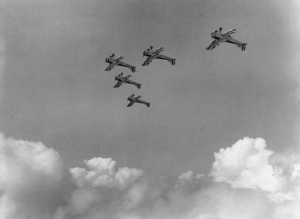 Avro Tutors of the Central Flying Sschool in formation flight, RAF Wittering, 1933