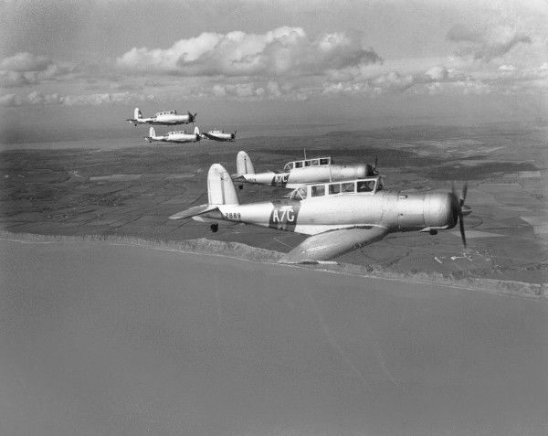 Blackburn Skua II aircraft of 803 Squadron in flight 1939