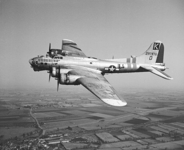 Boeing B-17G of the 447th Bombardment Group, USAAF, Stowmarket 12 May 1945