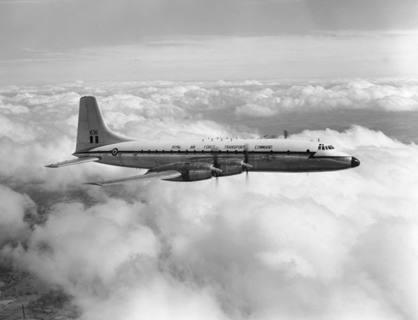Bristol Britannia C.1 at the time of its handover to the Royal Air Force, June 1959