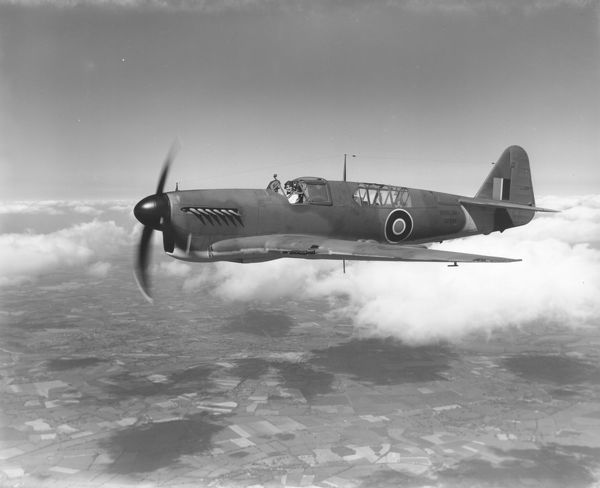 Fairey Firefly I (Z2035) in flight from Heathrow, 3 May 1944
