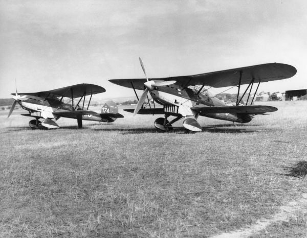 Fairey Fox VIc aircraft of the Belgian Air Force, Zurich 1937