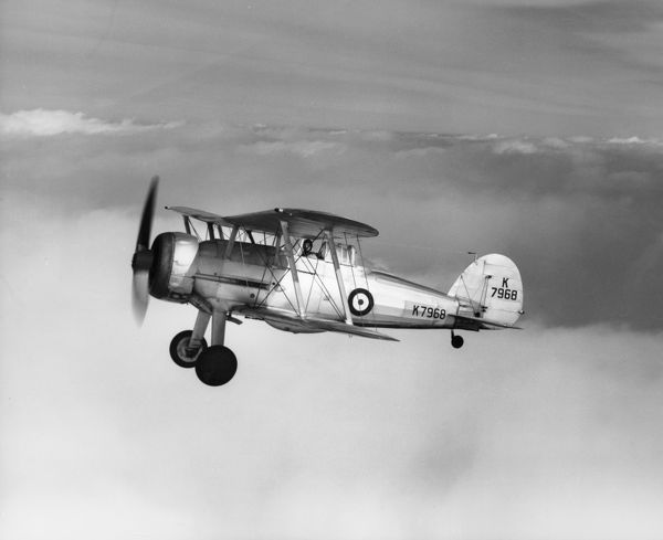 Gloster Gladiator I of 87 Squadron flying from RAF Debden, 1938