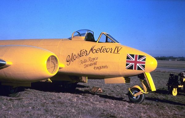 Gloster Meteor IV EE455, in which Eric Greenwood made an attempt on the World Air Speed Record, November 1945