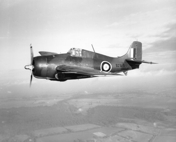 Grumman Martlet I (BJ513) in flight