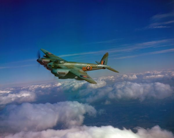 de Havilland Mosquito B.XVI of 571 Squadron RAF, part of the Light Night Striking Force