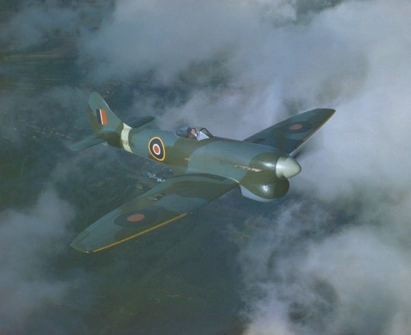 Hawker Tempest V in flight, 25 November 1944