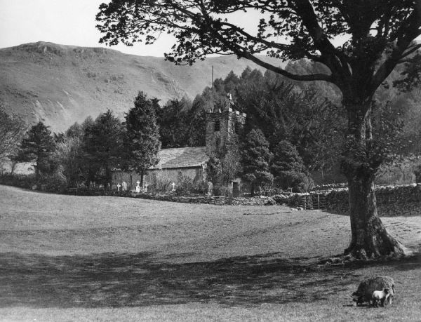 Holy Trinity Church, Mardale, just before it was demolished and the area flooded by Haweswater Reservoir. The last service was held on 18 August 1935