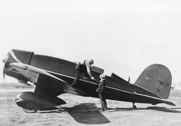 Lockheed was founded by Allan and Malcolm Loughead. Their aircraft became popular among air racers and record breakers. They built this Lockheed Sirius for Charles Lindbergh