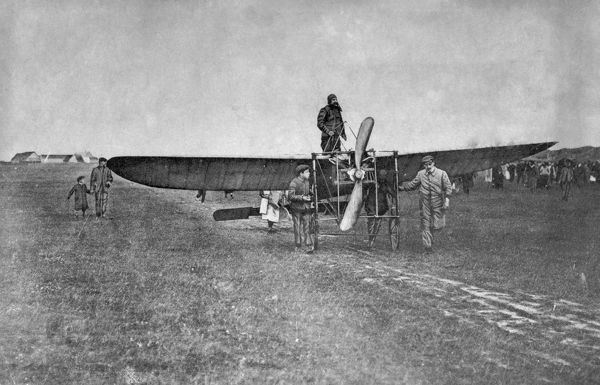 On 25 July 1909 Frenchman Louis Bleriot flew from Les Baraques in France to Dover in England, becoming the first man to fly an aeroplane across the English Channel. The event made headline news around the world and stunned the British authorities