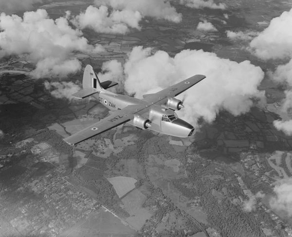 Percival Pembroke C.51 (RM8 OT-ZAH) for the Belgian Air Force, in flight September 1954