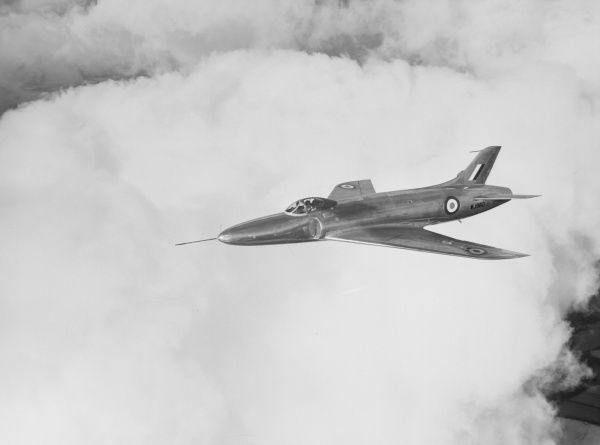 Supermarine Swift prototype in flight, 1951