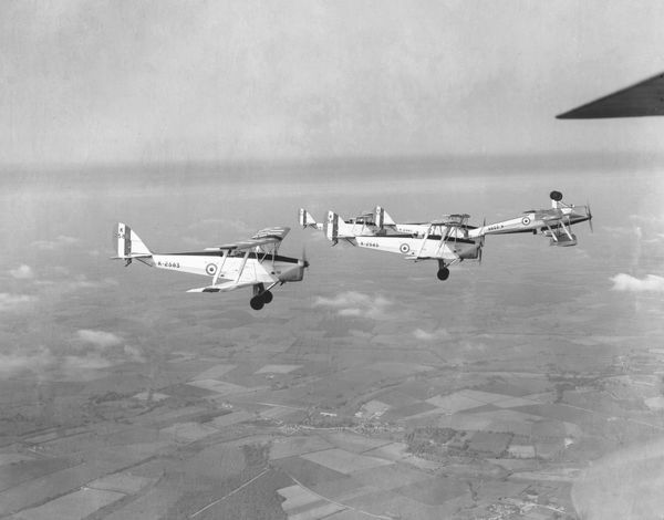 De Havilland Tiger Moth I aircraft of the CFS rehearsing for RAF Display at Wittering, 13 June 1932