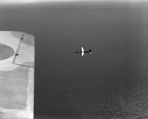 A Towed Target in flight near Lee-on-Solent