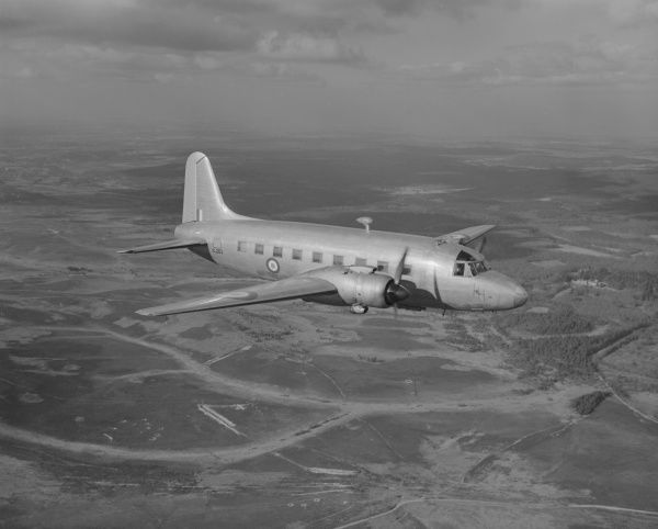 Vickers Valetta C.1 (VL263) in flight, Beaulieu, 2 February 1949