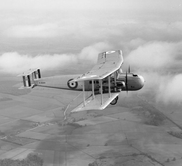 Vickers Victoria V of the Central Flying School being flown blind from RAF Wittering, 1932