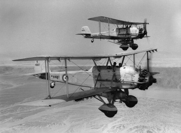 Vickers Vincent aircraft of 207 Squadron RAF, Palestine 1936