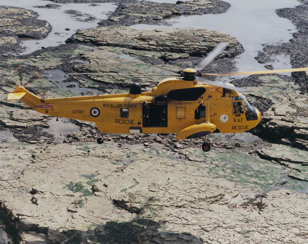 Westland Sea King HAR.3 of 202 Squadron on a training flight