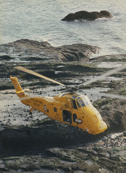 Westland Wessex HAR.2 helicopter of 22 Squadron on a traning flight