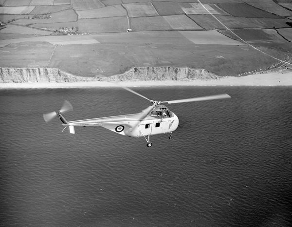 Westland Whirlwind HAR.1 helicopter (XA866) in flight from Yeovil June 1954