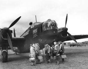 Boarding a Wellington II of 104 Sqn