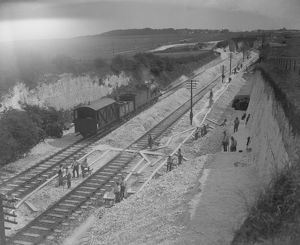 Constructing the Thanet Line, 1926