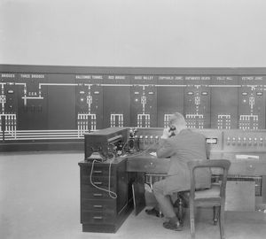 Electrification of the Brighton Line - the control room