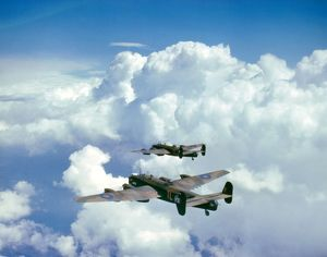 Handley Page Halifax bombers of 35 Squadron