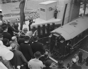 Inauguration of the boat train service, Dover 1936