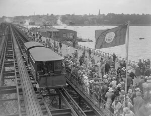 Ryde Pier during the visit of the Prince of Wales, 1926