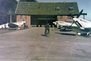 Spitfires of 16 Squadron at Melsbroek